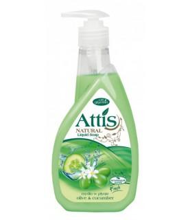 GoldDrop Attis Liquid soap olive & cucumber 400ml / 14oz