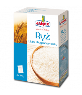 Janex Long-Grain White Rice in Box 4x100g (4x3.5oz)