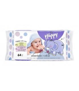 Bella Baby Happy chisteczki nawilzane z witamina E 64 szt.