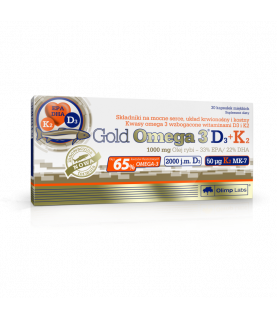 Olimp Labs Gold Omega3 D3+K2 30 kapsulek