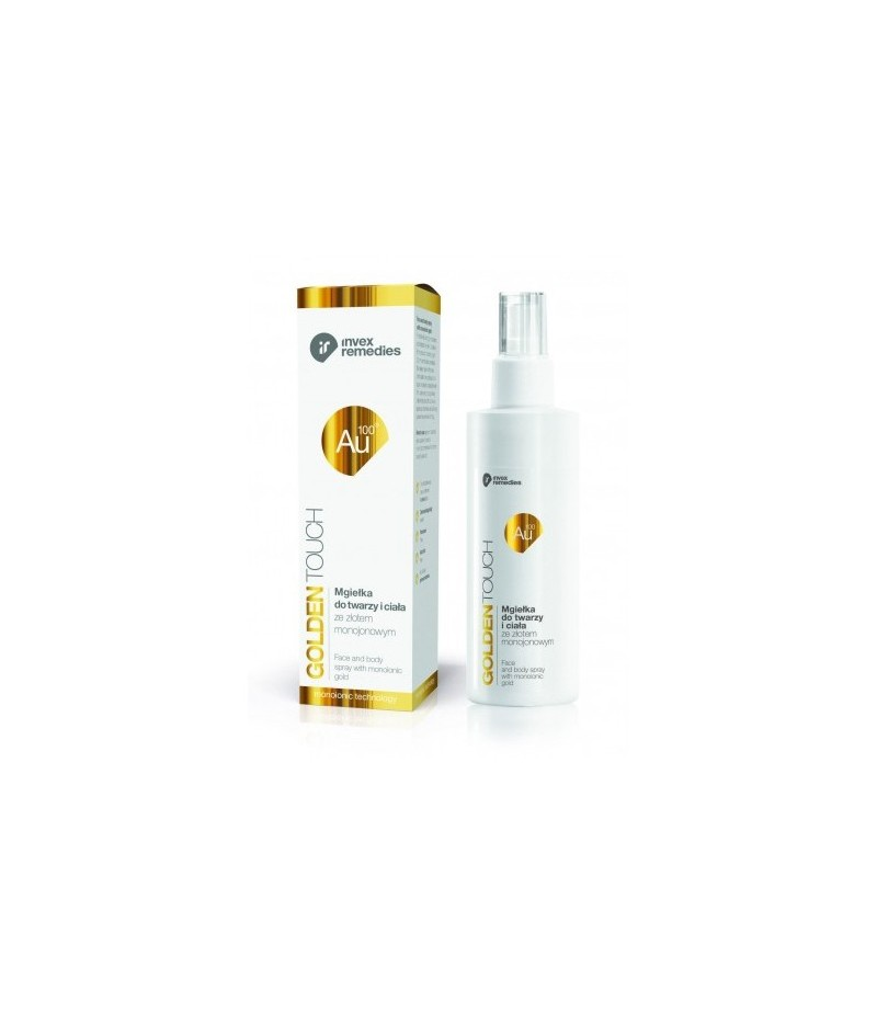 Invexremedis AU100 FACE AND BODY SPRAY WITH MONOIONIC GOLD 200 ML / 7oz