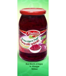 Radosz - Smak Tradycji Red Beets in Vinegar ( Chips) 900 ml / 30oz