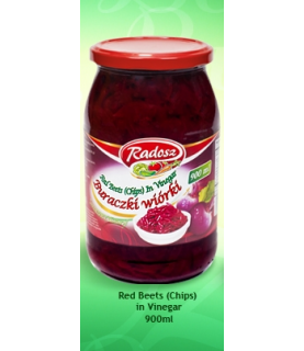 Radosz - Smak Tradycji Red Beets in Vinegar ( Chips) 900 ml