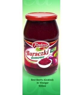 Radosz - Smak Tradycji Red Beets in Vinegar ( Grated) 900 ml / 30oz