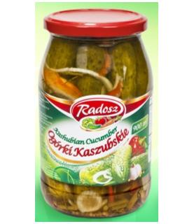 Radosz - Smak Tradycji Kashubian Pickles with Pepper Strips 900ml / 30oz
