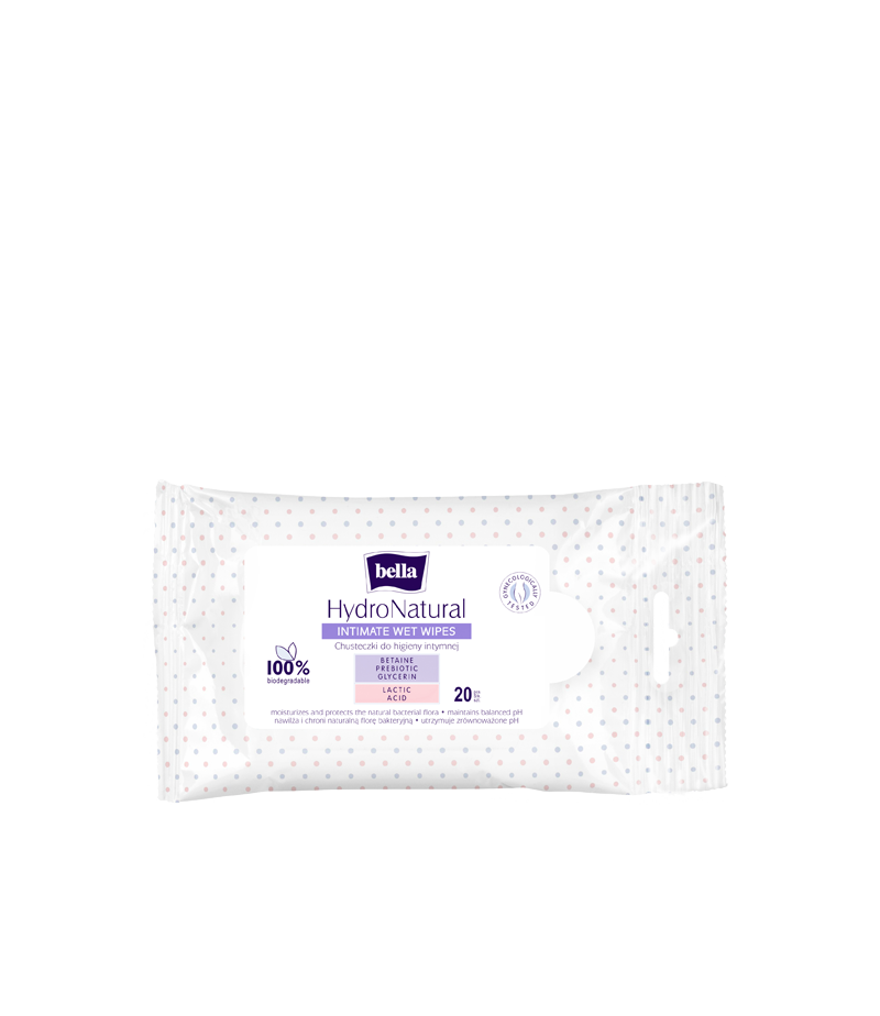 Bella Bella Hydronatural Intimate Wet Wipes ( 20 wet wipes)