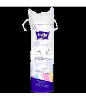 Bella Platki kosmetyczne Bella Cotton okragle ( 80 platkow )