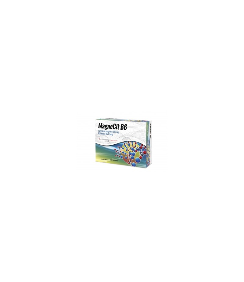 RedPharma MagneCit B6 50 tabletek