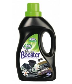 GoldDrop Booster Black Hypoallergenic - Liquid Laundry Detergent for Black Colors 1000ml / 34oz
